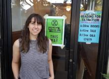 """Capilano University student Grace Grignon says that she was attracted to Extinction Rebellion because it's taking a """"different and stronger approach"""" than other groups."""