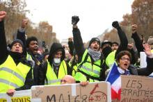Yellow vests demonstration
